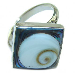 Great Ocean Shell Sterling Silver Ring s. 7