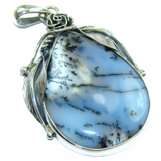 Vintage Design Perfect quality Dendritic Agate .925 Sterling Silver handmade Pendant