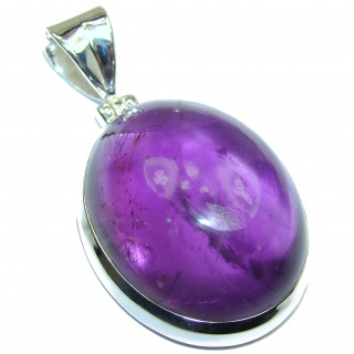 Her Majesty Natura l75 ct Amethyst .925 Sterling Silver handmade Pendant