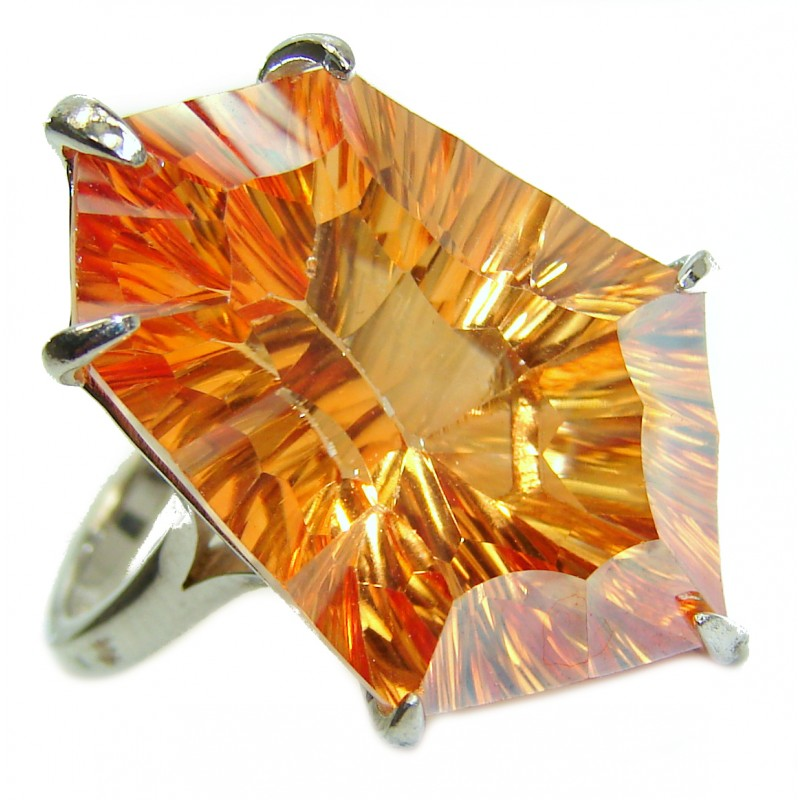 Summer Beauty Golden Topaz Sterling Silver .925 Ring size 8 1/4