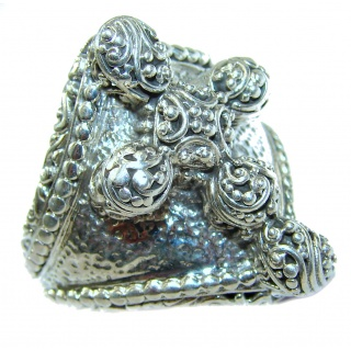 Holy Cross .925 Sterling Silver handcrafted Ring s. 9