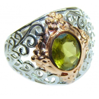 Energazing Peridot .925 Sterling Silver Ring size 6 1/4