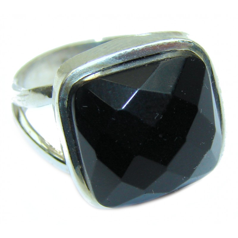 Faceted Onyx Ring