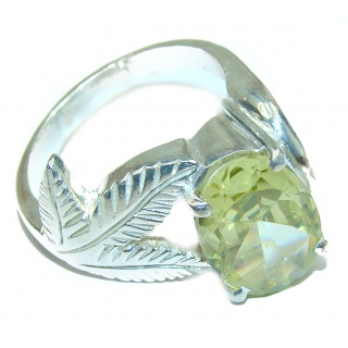 Ultra Fancy Cubic Zirconia .925 Sterling Silver Cocktail ring s. 10