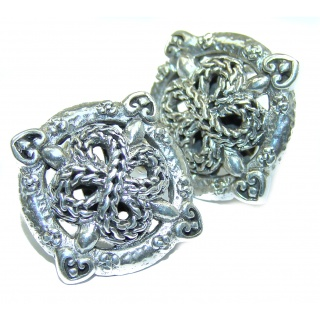 Rich Bali Design .925 Sterling Silver handcrafted earrings