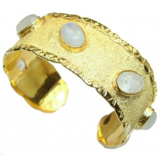 Bracelet with Cabochon Moonstone 24K gold and Sterling Silver