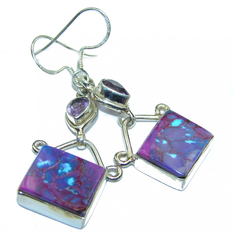 Purple Cubic Zirconia .925 Sterling Silver earrings