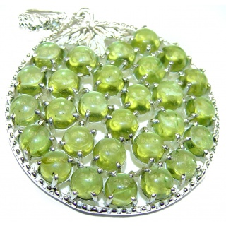 Beautiful genuine Peridot .925 Sterling Silver handcrafted Pendant