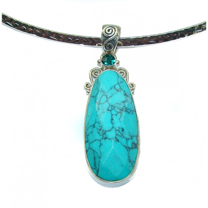 True Beauty Turquoise .925 Sterling Silver handcrafted necklace