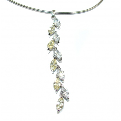 Luxurious Design Cubic Zirconia .925 Sterling Silver necklace