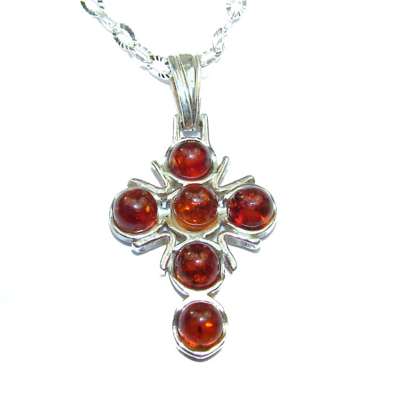 Natural Baltic Amber .925 Sterling Silver handcrafted necklace