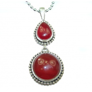 Genuine Carnelian .925 Sterling Silver handcrafted Necklace