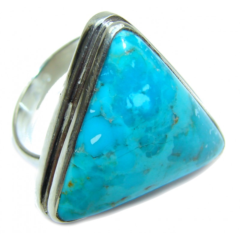 Genuine Sleeping Beauty Turquoise .925 Sterling Silver handcrafted Ring size 9
