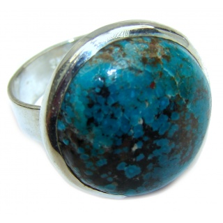 Authentic Turquoise .925 Sterling Silver ring; s. 8