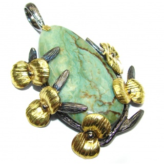Simple Design Morrisonite .925 Sterling Silver handmade Pendant