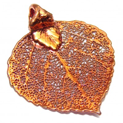 Stylish Deeped In Copper Leaves Sterling Silver Pendant