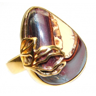 Genuine Australian Koroit Gold over .925 Sterling Silver handcrafted Ring size 7 adjustable
