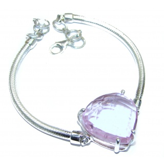 Passion's Hearts Quartz .925 Sterling Silver handcrafted Bracelet
