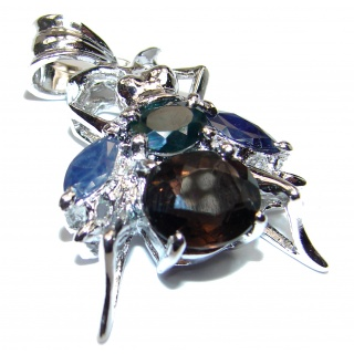 Fly Design Beauty Smoky Topaz .925 Sterling Silver handmade Pendant