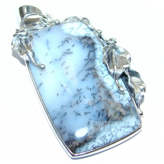 Perfect quality AAAA+ Dendritic Agate .925 Sterling Silver handmade Pendant