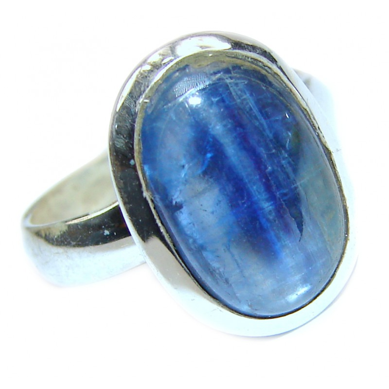Natural Kyanite .925 Sterling Silver handcrafted ring size 7