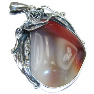 Perfect quality AAAA+ Botswana Agate .925 Sterling Silver handmade Pendant