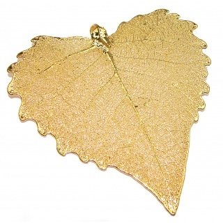 Huge Stylish Deeped In Copper Leaves & .925 Sterling Silver Pendant