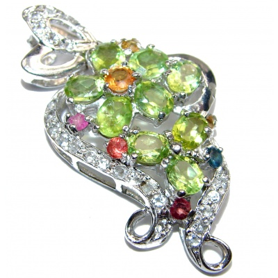 Pure Perfection Natural Peridot .925 Sterling Silver handmade Pendant