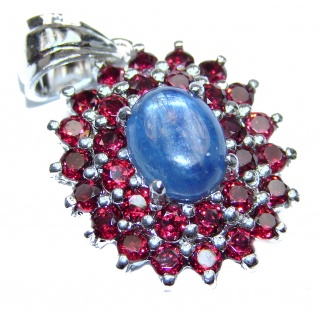 Beautiful genuine Kyanite Ruby .925 Sterling Silver handcrafted Pendant