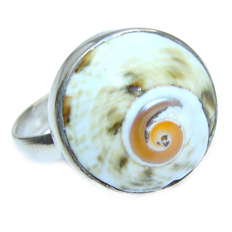 Great Ocean Shell Sterling Silver Ring s. 7 1/2