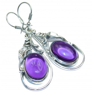 Sunstantial Authentic pure Perfection Amethyst .925 Sterling Silver handmade earrings