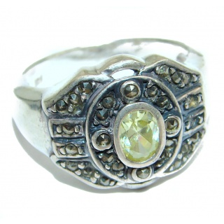 Energazing Peridot .925 Sterling Silver Ring size 8