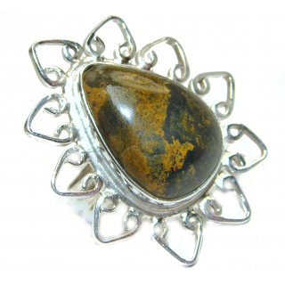 Picasso Jasper .925 Sterling Silver handcrafted ring s. 9