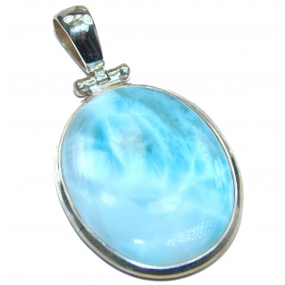 Truly Divine Authentic Caribbean Larimar .925 Sterling Silver handmade pendant