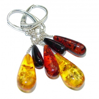 Stylish Authentic Baltic Amber .925 Sterling Silver handmade Earrings