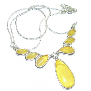 Natural Beauty Warm Butterscotch Baltic Amber .925 Sterling Silver handmade necklace