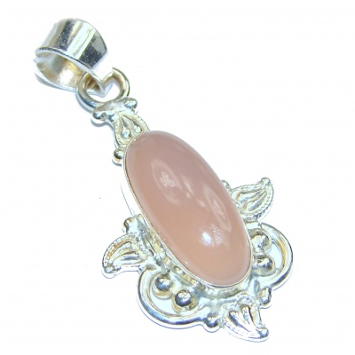 Perfect Rose Quartz .925 Sterling Silver handmade pendant