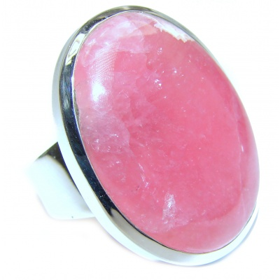 Best Quality Argentinian Rhodochrosite .925 Sterling Silver handmade ring size 8
