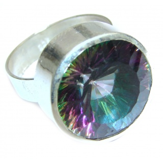Exotic Magic Topaz .925 Sterling Silver handcrafted Ring s. 10 1/4