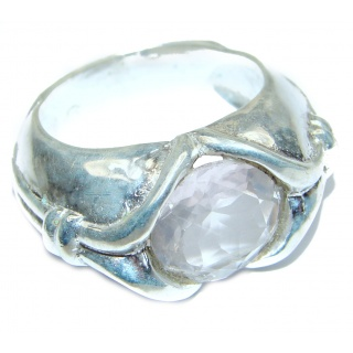 White Cubic Zirconia .925 Sterling Silver handmade Ring s. 10