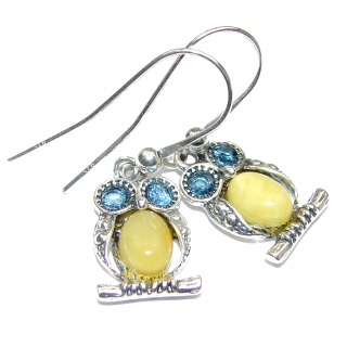 Exclusive Butterscotch Polish Amber .925 Sterling Silver handmade Earrings