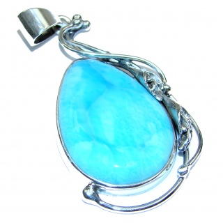 Authentic Caribbean Larimar .925 Sterling Silver handmade pendant