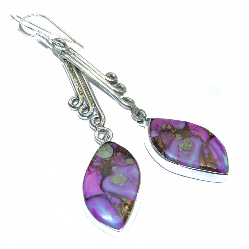 Purple Turquoise .925 Sterling Silver earrings