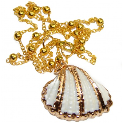 Vitamin Sea Large 18K Gold over .925 Shell Sterling Silver necklace