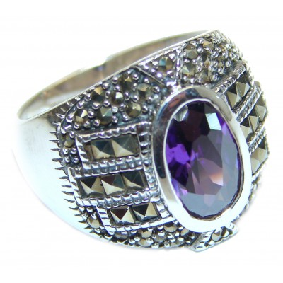 Ultra Fancy Cubic Zirconia .925 Sterling Silver Cocktail ring s. 9
