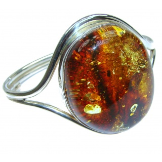 Vintage Design Genuine Polish Amber .925 Sterling Silver handcrafted Bracelet