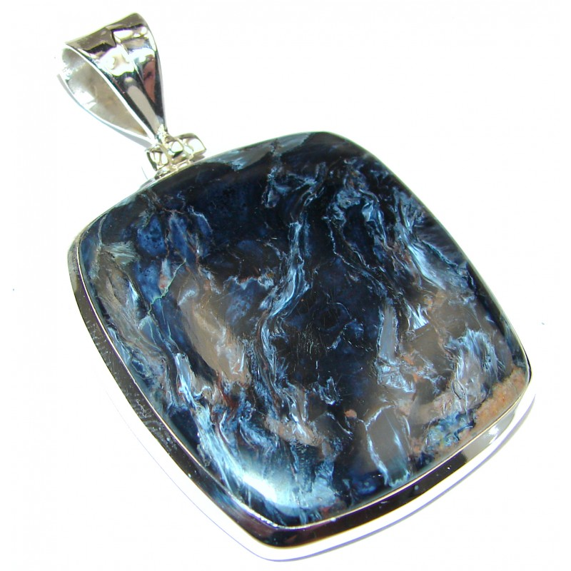 Genuine Golden Pietersite .925 Sterling Silver handmade pendant