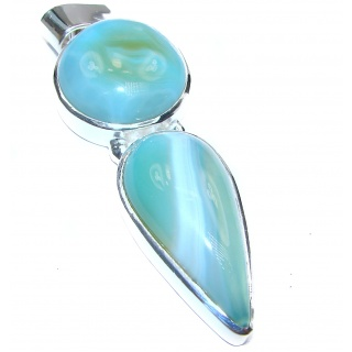 Large Perfect quality Botswana Agate .925 Sterling Silver handmade Pendant