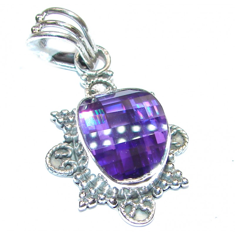 Cubic Zirconia .925 Sterling Silver Pendant