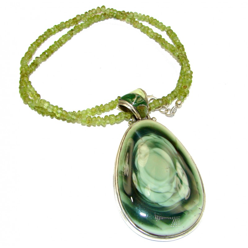 Make Memories Imperial Jasper .925 Sterling Silver handcrafted necklace